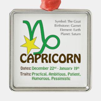Capricorn Traits Square Ornament