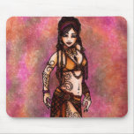 Capricorn Tribal Belly Dancer Mouse Pads