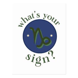Capricorn  What's ur Sign ? Postcard