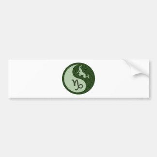 Capricorn Yin Yang Bumper Sticker