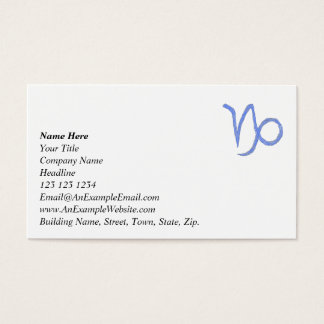 Capricorn. Zodiac Astrological Sign. Blue. Business Card