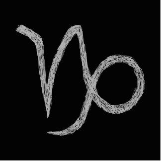 Capricorn. Zodiac Astrology Sign. Black. Cutout