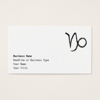 Capricorn. Zodiac Astrology Sign. Business Card