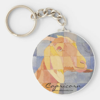 Capricorn Zodiac Basic Round Button Keychain