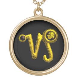 CAPRICORN ZODIAC BIRTHDAY JEWEL  Black Onyx Gold Gold Plated Necklace