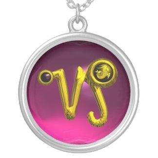 CAPRICORN ZODIAC BIRTHDAY JEWEL  Black Onyx Gold Silver Plated Necklace
