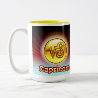CAPRICORN ZODIAC COFFEE MUG YELLOW -DEC 23-Jan 20