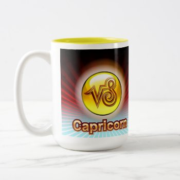Capricorn Zodiac Coffee Mug Yellow Image Birthday by creativeconceptss at Zazzle