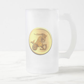 Capricorn Zodiac Frosted Beer Mug