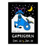 CAPRICORN - ZODIAC GREETING CARD