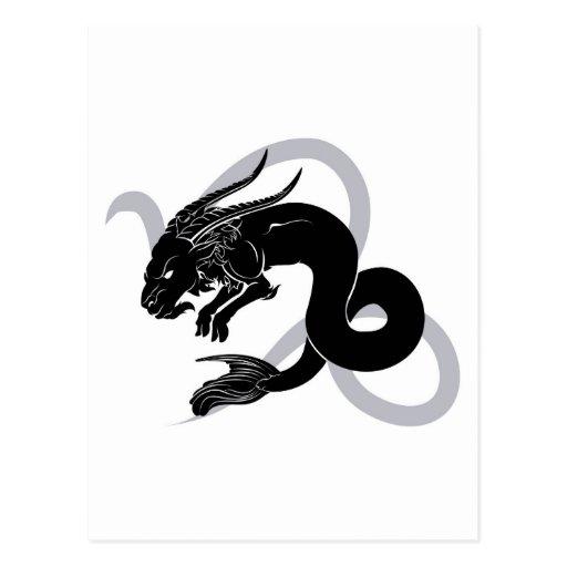 Capricorn zodiac horoscope astrology sign postcards
