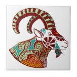 Capricorn Zodiac - Ibex Azulejos