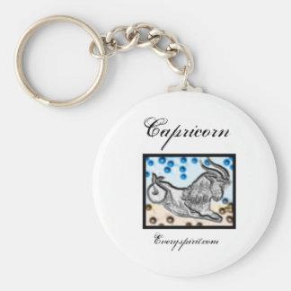 Capricorn Zodiac Items Basic Round Button Keychain