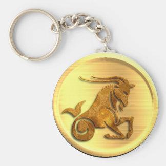 Capricorn Zodiac Keychain
