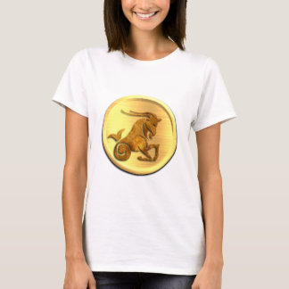 Capricorn Zodiac Ladies Fitted T-Shirt