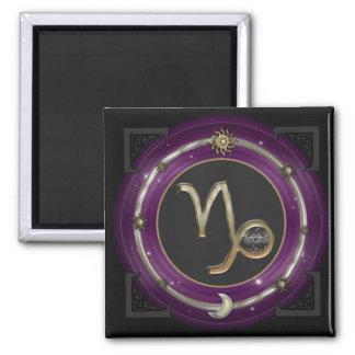 Capricorn Zodiac Sign 2 Inch Square Magnet