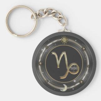 Capricorn Zodiac Sign Basic Round Button Keychain