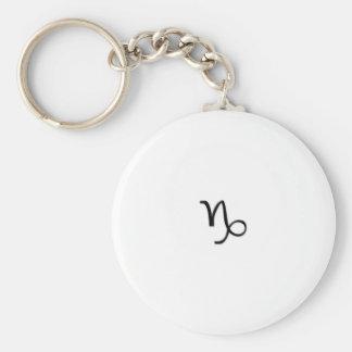 Capricorn - Zodiac Sign Basic Round Button Keychain
