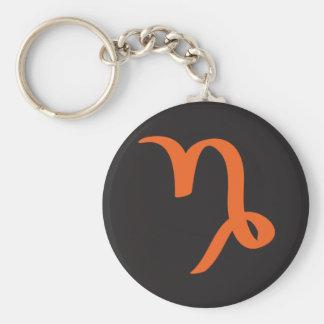 Capricorn Zodiac Sign. Basic Round Button Keychain