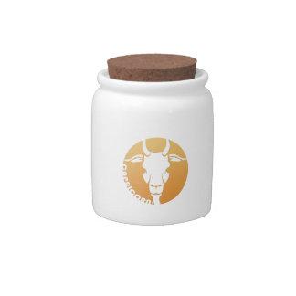 Capricorn Zodiac Sign Candy Jars
