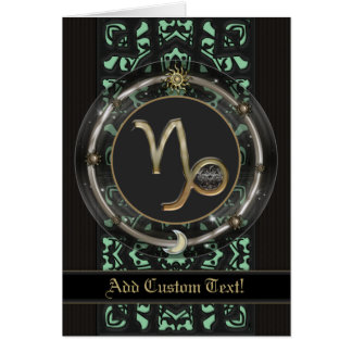 Capricorn Zodiac Sign Greeting Card