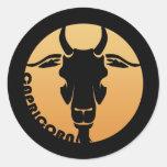 Capricorn Zodiac Sign Classic Round Sticker