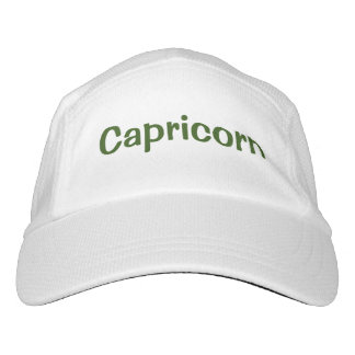 Capricorn Zodiac Sign Green Headsweats Hat