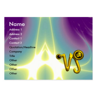 CAPRICORN ZODIAC SIGN JEWEL IN LIGHT WAVES LARGE BUSINESS CARD