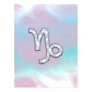 Capricorn Zodiac Sign on Mother of Pearl Style Postcard