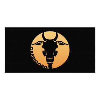 Capricorn Zodiac Sign Photo Card