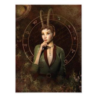 Capricorn zodiac sign photo print
