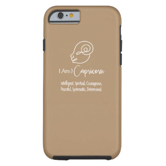 Capricorn Zodiac Sign The Goat Iced Coffee Tough iPhone 6 Case