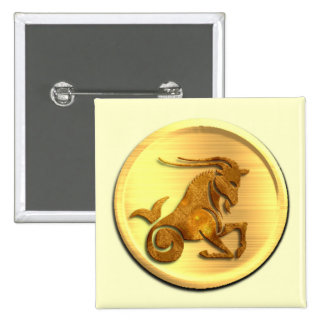 Capricorn Zodiac Square Pin