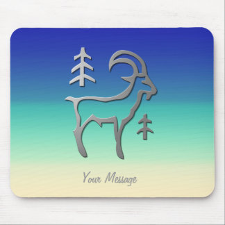 Capricorn Zodiac Star Sign In Light Silver Mouse Pad