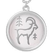 Capricorn Zodiac Star Sign In Light Silver necklaces