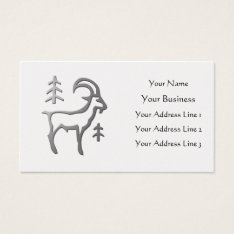 Capricorn Zodiac Star Sign In Light Silver On Gold Business Card at Zazzle