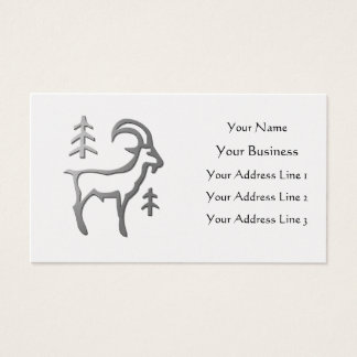Capricorn Zodiac Star Sign In Light Silver on Gold Business Card