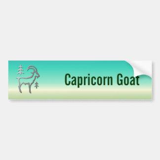 Capricorn Zodiac Star Sign In Light Silver Room or Bumper Sticker