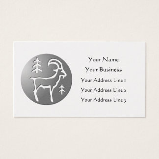 Capricorn Zodiac Star Sign Premium Silver Business Card
