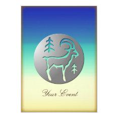 Capricorn Zodiac Star Sign Premium Silver Card at Zazzle