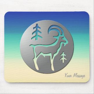 Capricorn Zodiac Star Sign Premium Silver Mouse Pad