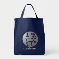 Capricorn Zodiac Star Sign Premium Silver Tote Bag at Zazzle