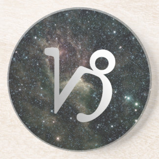 Capricorn Zodiac Star Sign Universe Drink Coaster