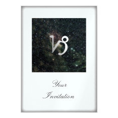 Capricorn Zodiac Star Sign Universe Party Event Card at Zazzle