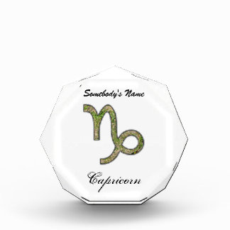 Capricorn Zodiac Symbol Element Acrylic Award