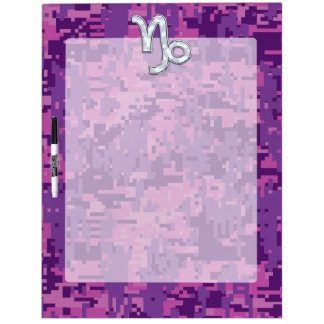 Capricorn Zodiac Symbol Fuchsia Digital Camouflage Dry-Erase Board
