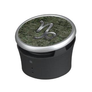 Capricorn Zodiac Symbol Green Digital Camouflage Speaker