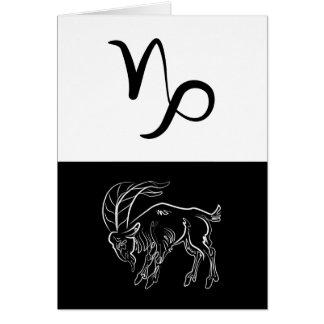 Capricorn Zodiac symbol greeting card