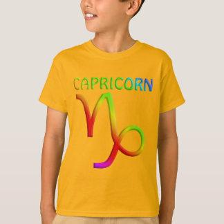 Capricorn Zodiac Symbol Kids Orange T-Shirt