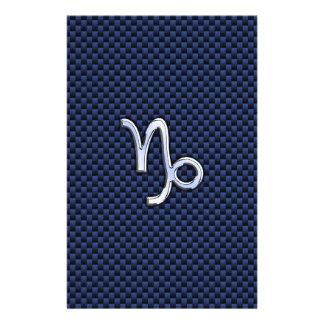 Capricorn Zodiac Symbol Navy Blue Carbon Fiber Flyer
